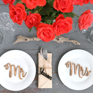 Wedding Table Decorations - Mr & Mrs Table Names