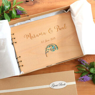 Guest Book - Floral Paua Inlay
