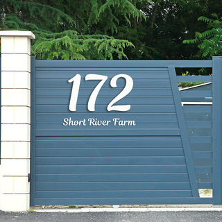 Large House Numbers and Letters -  Tilt