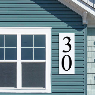 House Number Signs - Rectangle Layered