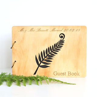 Wooden Guest Book - Fern
