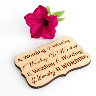 SAMPLE - Wooden Engraved Cartouche