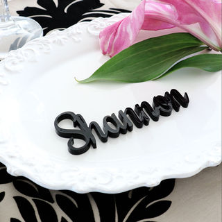 Laser Cut Guest Table Names - Fancy Lettering in Black