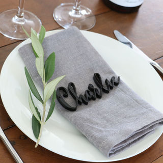 Laser Cut Guest Table Names - Boho Style in Black