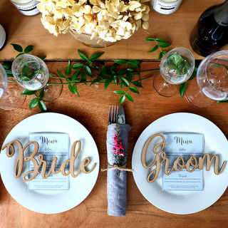 Wedding Table Decorations - Bride & Groom Names