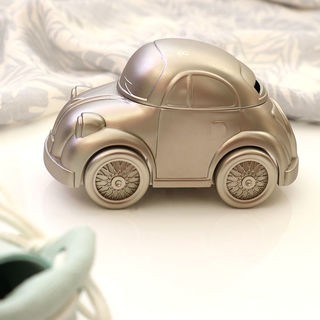 Christening Gift - Pewter Beetle Car Money Box