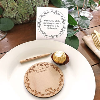 Wooden Guest Message Place Cards