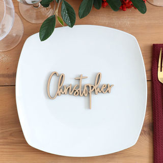 Laser Cut Guest Table Names - Freestyle in Wood