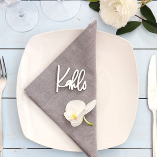 Laser Cut Guest Table Name Favours - Freestyle in White