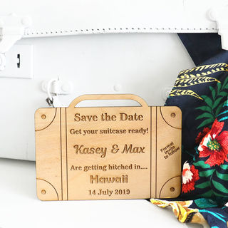Save the Date - Travel Suitcase