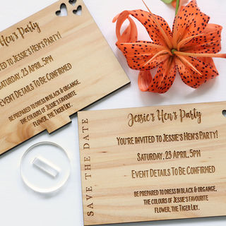 Save the Date - Standing Wooden Rectangle