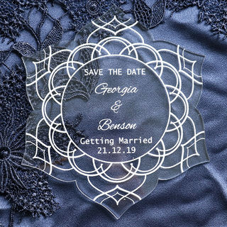 Save the Date - Boho Flower
