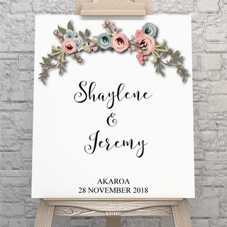 Floral Welcome Poster - Digital Print