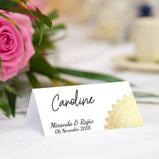 Table Place Cards - The Golden Sun