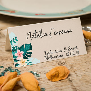 Table Place Cards - Tropical
