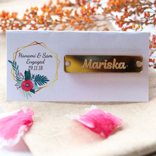 Gold Bracelet Tag Favour
