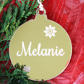 Personalised Gold Christmas Bauble