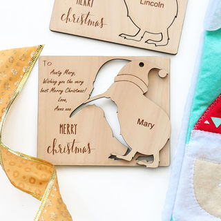 Personalised Christmas Kiwi Postcard