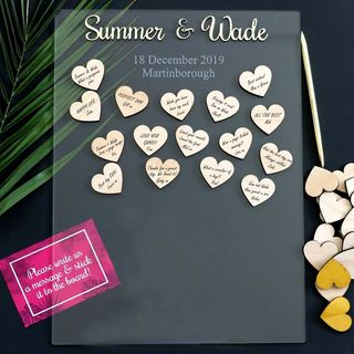 Guest Sign Frame - Hearts