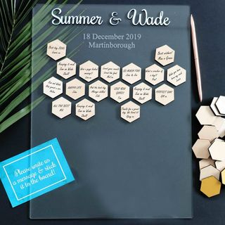 Guest Sign Frame - Hexagons
