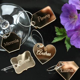 Wine Glass Charms - Gold