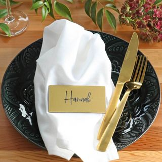 Placecard - Brushed Gold