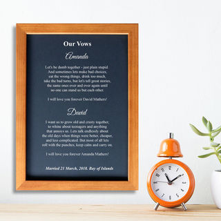 Wedding Vows - Framed