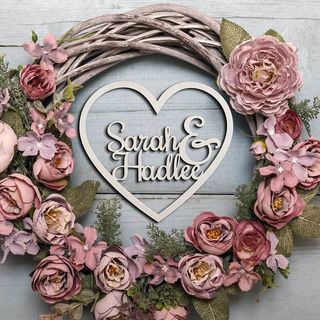 Personalised Wooden Sign - Large Heart