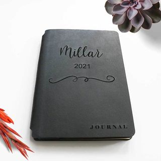 Personalised Leather Journal - Black