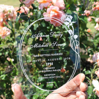 Acrylic Invitation - Rose
