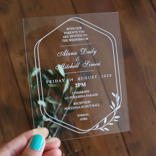 Acrylic Invitation - Olive Branch