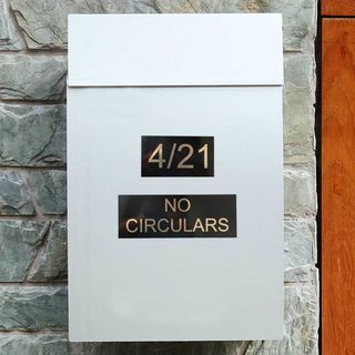 Letterbox Number Plaques - Metal Alloy