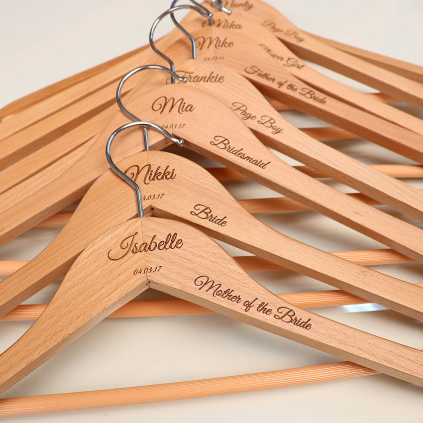 Engraved Personalised Coat Hangers