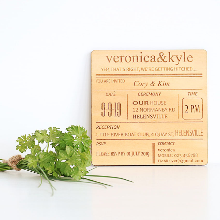 Invitations - Menu Style Coaster