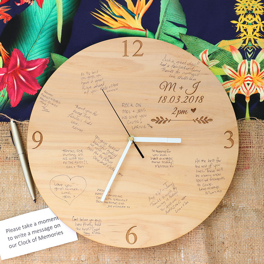 Guest Book Alternative - Wall Clock