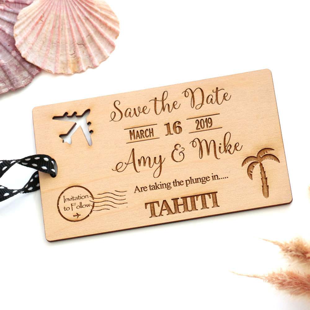 Save the Date - Wooden Tag