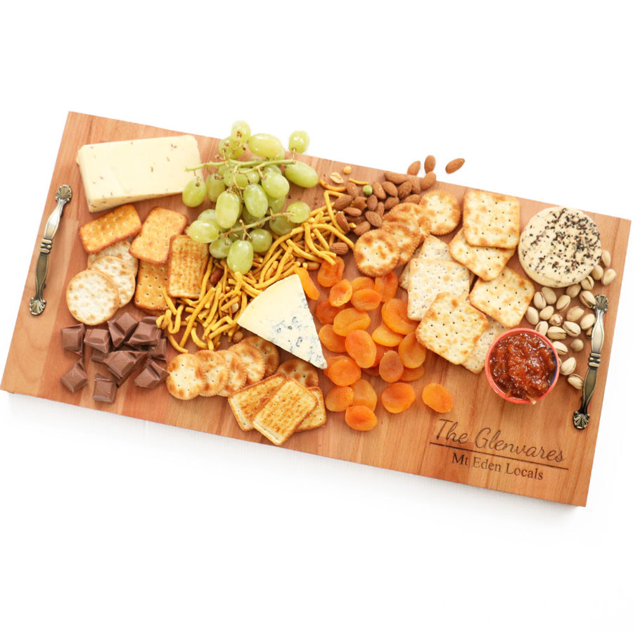 NZ Made Grazing Platter With Handles Made From Beechwood