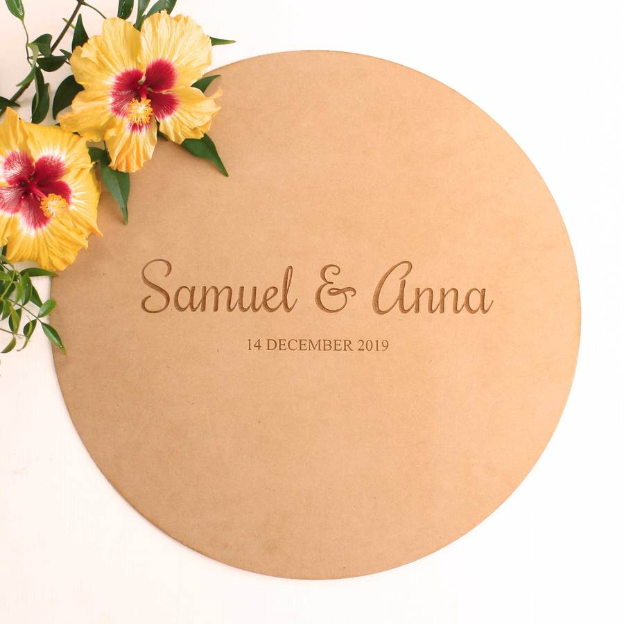 Guest Book Alternative - Round Sign