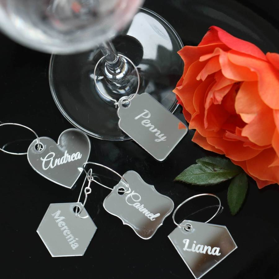 Wine Glass Charms - Silver