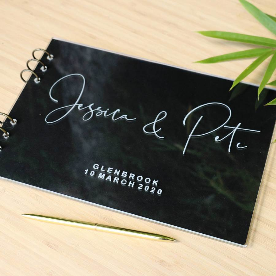 Guestbook - Acrylic / Perspex - Autograph Font