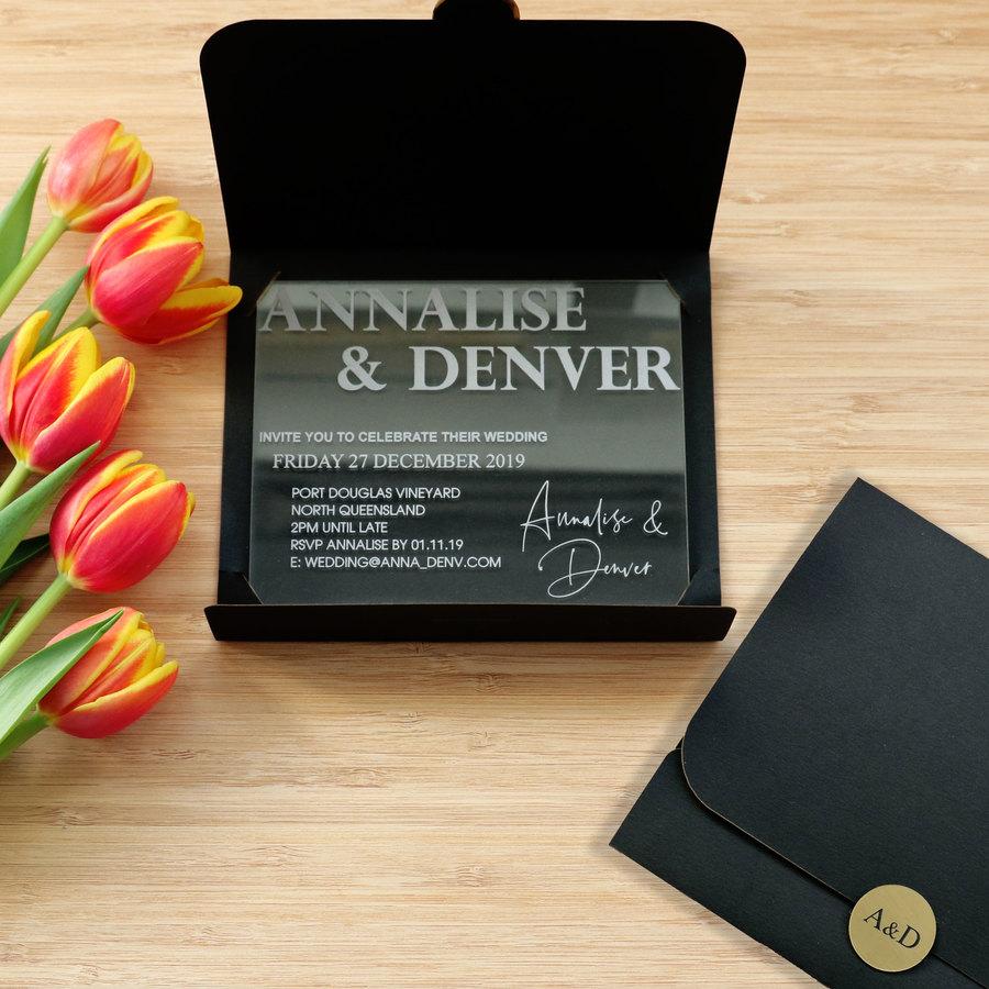 Acrylic Perspex Wedding Invitations