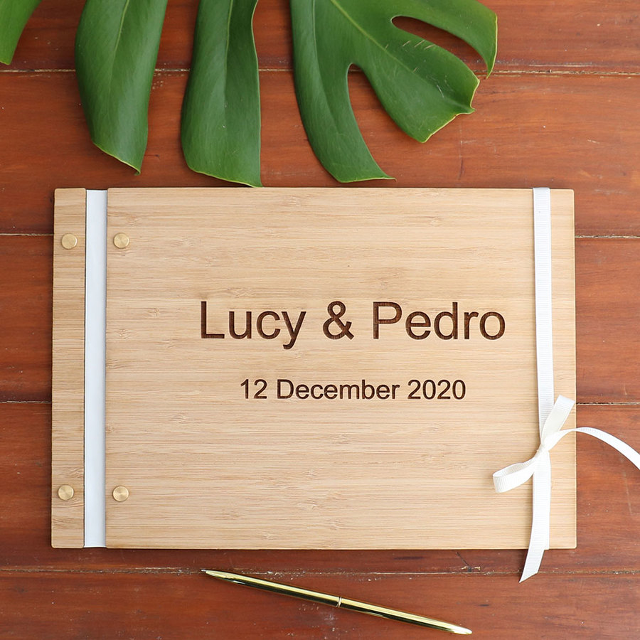 Guest Book - Bamboo - Flat Lay Binding