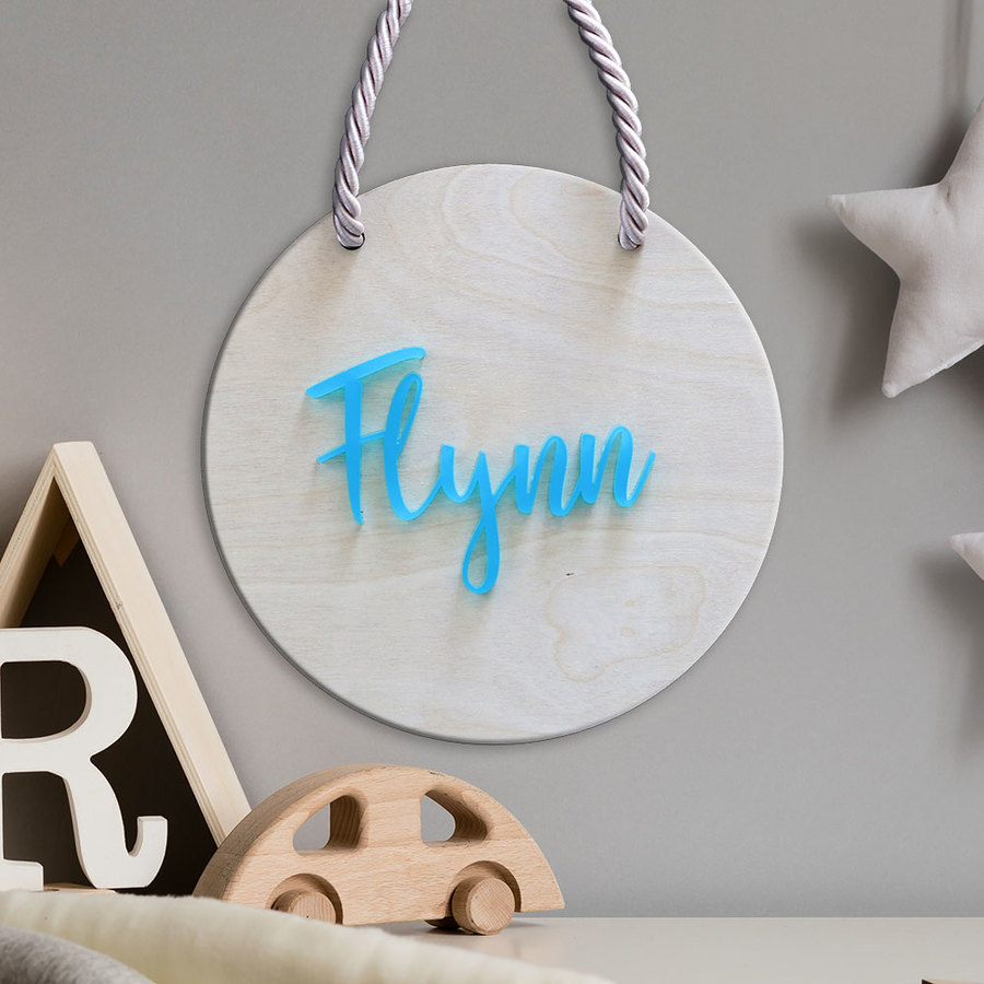 Kids Name Sign - Frosted Blue