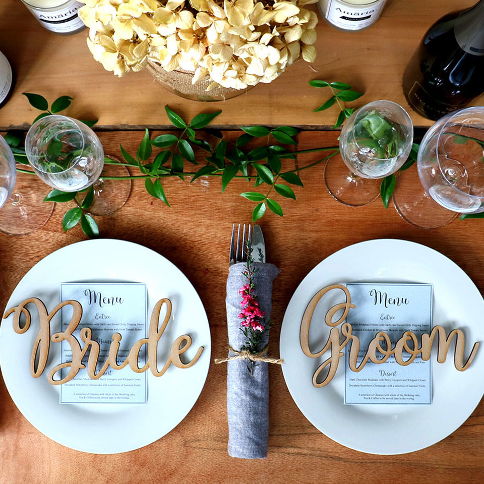 Wedding Table Names for the Bride and Groom