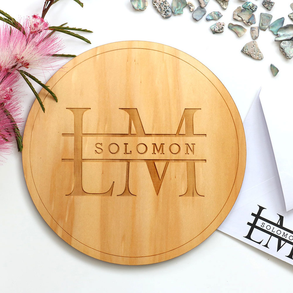 Monogrammed Signs for Weddings and Engagements