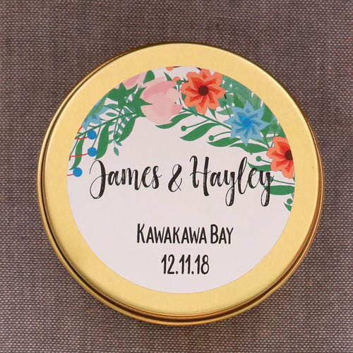 personalised candle wedding favour