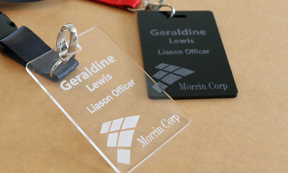 Corporate Badges or Name / Identity Tags for Corporate Events or Company Staff Use